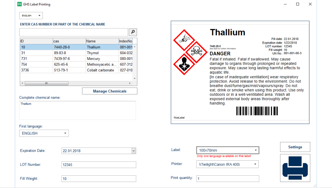 nicelabel custom compliance software