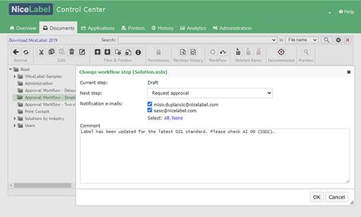label cloud control center