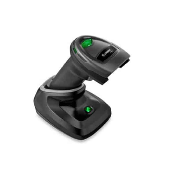 zebra ds2278 handheld scanner black inside of cradle